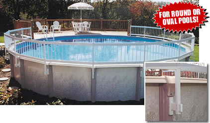 above ground swimming pool fence and deck kits - Above Ground Pool Deck