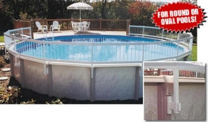 Above Ground Pool Fence Deck Royal Swimming Pools
