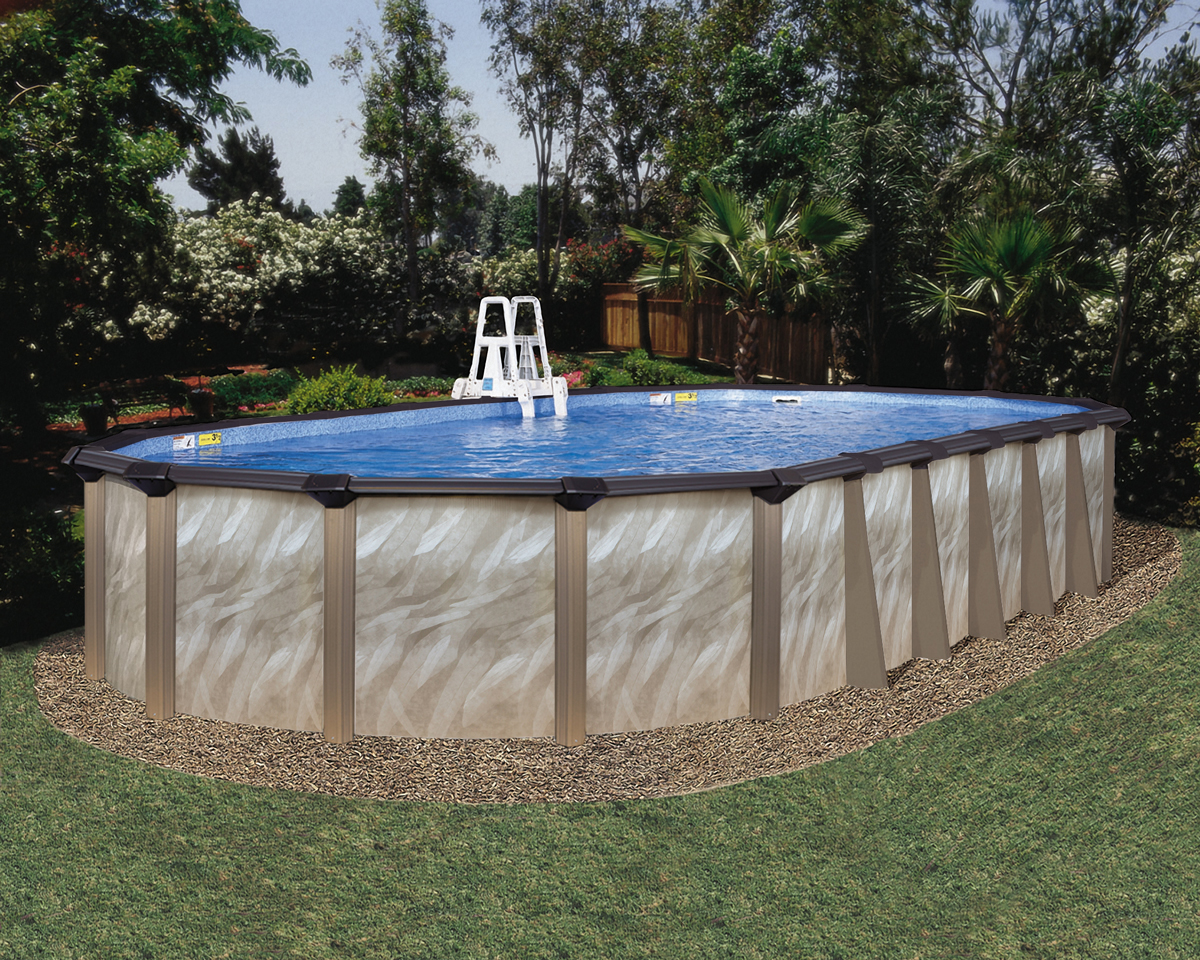 16 39 X 32 39 Oval 52 Embassy Andes By H I I Mfg Of Doughboy Royal Swimming Pools