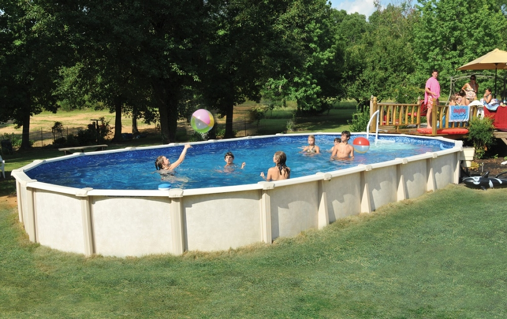 Oval Installed Above Ground Pool, How To Install An Above Ground Oval Pool