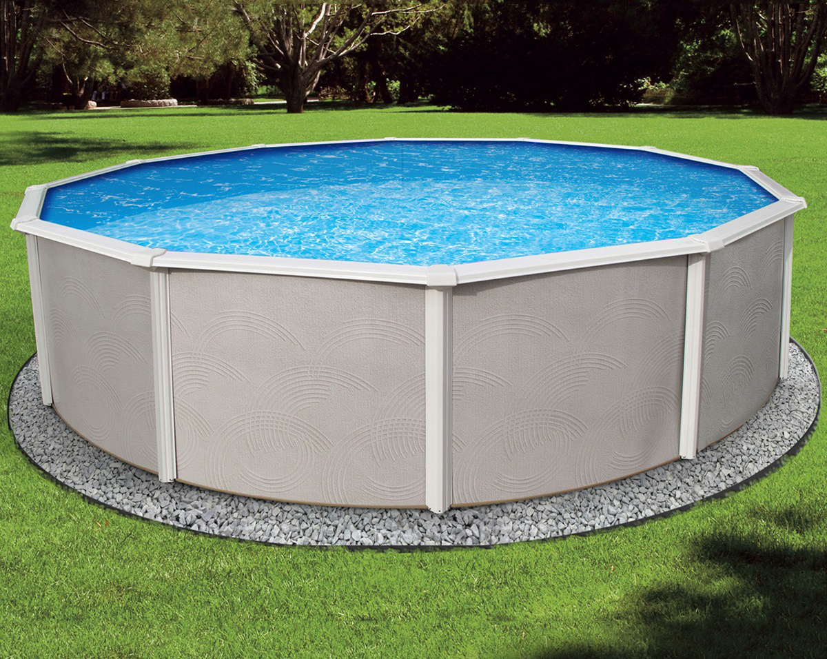 12 39 round 48 belize royal swimming pools for Round swimming pools above ground