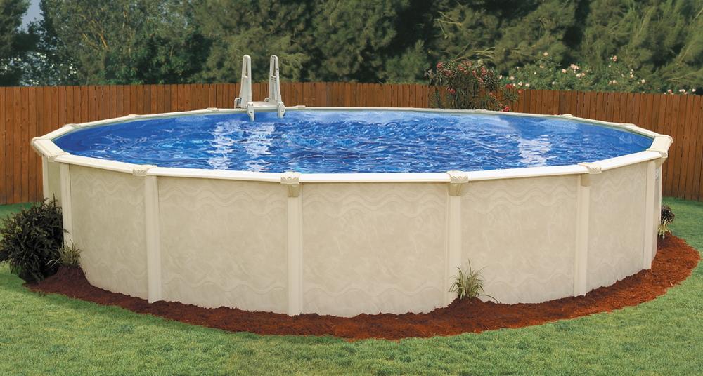 click to customize the 27ft x 52in century above ground pool - Rectangle Pool Aerial View