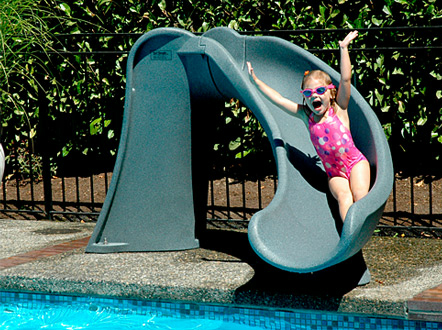 Kids Pools With Slides inter-fab x-stream 2 pool slide | royal swimming pools