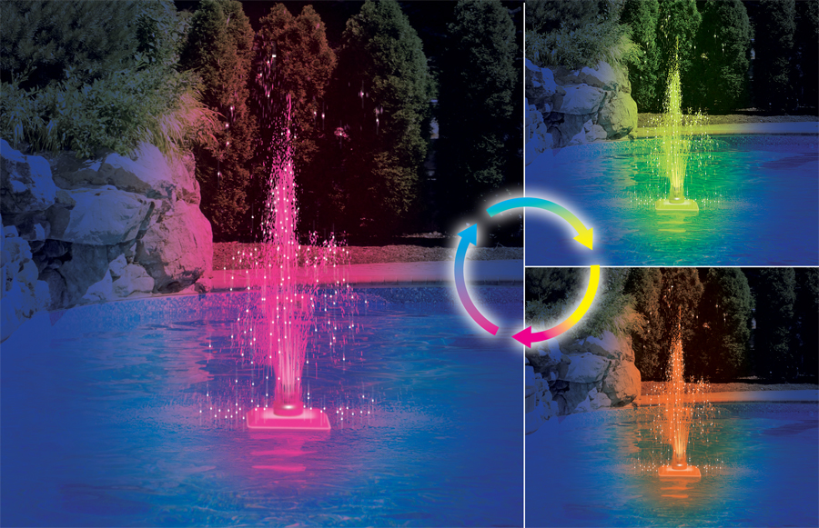 Kaleidoscope Led Fountain Royal Swimming Pools