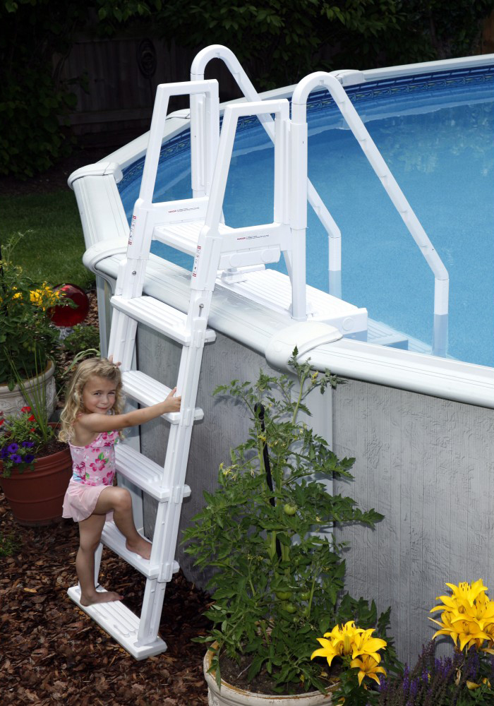 walk in step with outside ladder royal swimming pools