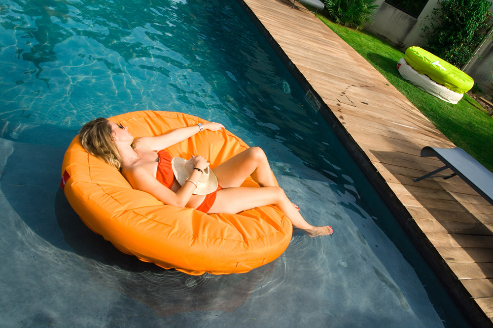 Sunsoft Fabric Covered Lounger