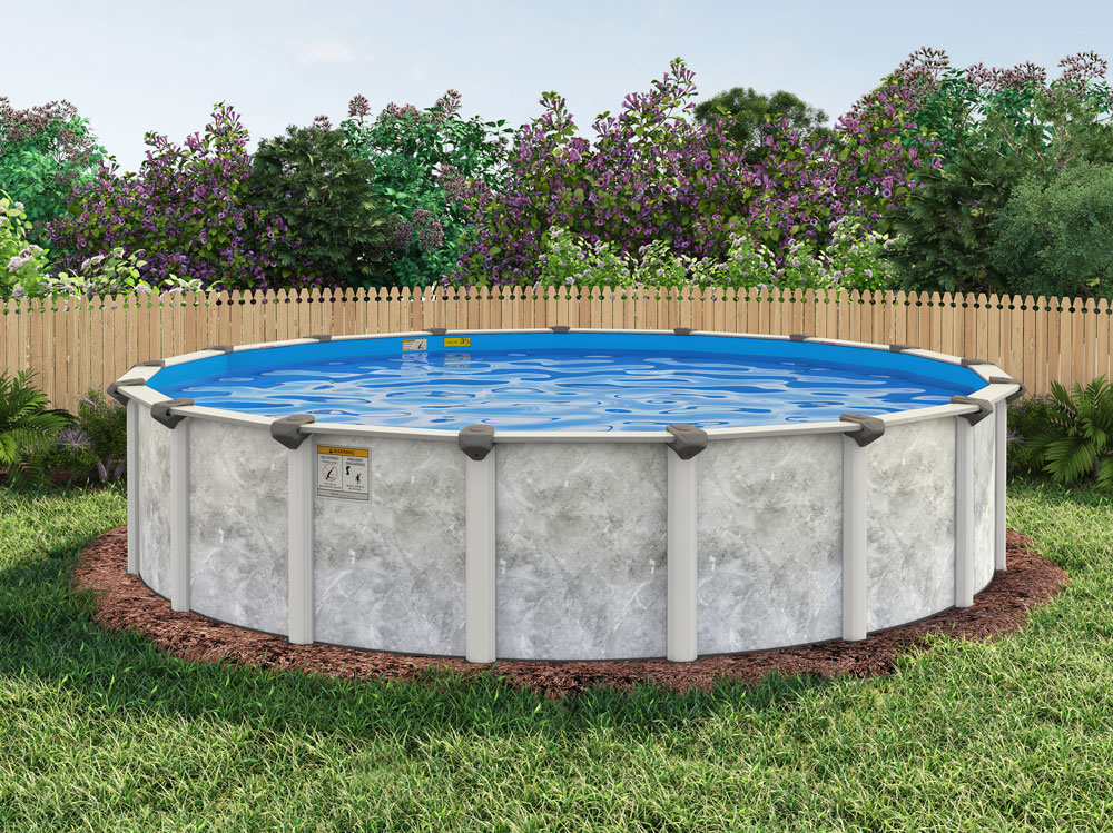 30 39 round 52 embassy royal retreat by h i i mfg of doughboy royal swimming pools for Round swimming pools above ground