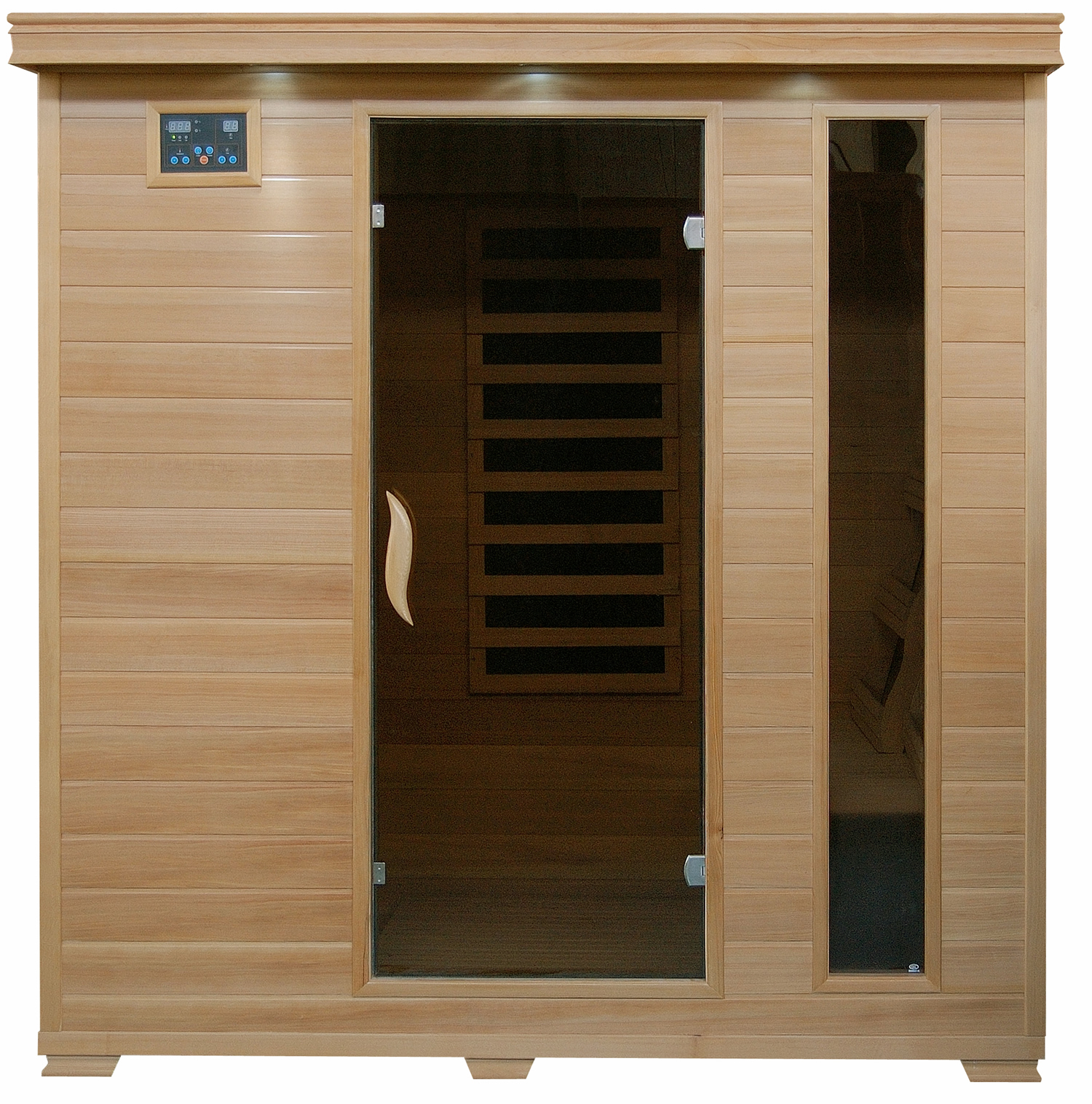Monticello   Hemlock 4 Person Sauna With Carbon Heaters   Royal Swimming  Pools