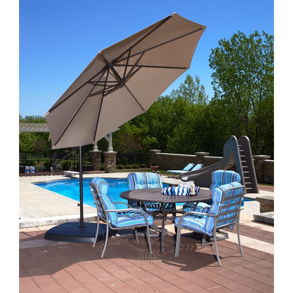 Santiago 10u0027 Cantilever Umbrella   Beige Sunbrella Acrylic