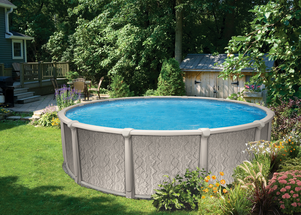 21 39 round 52 saltwater destiny royal swimming pools for Round swimming pools above ground