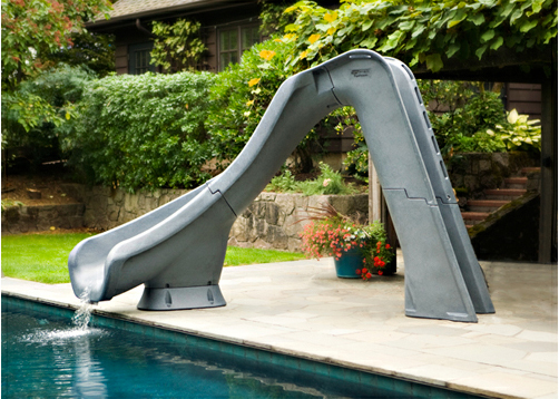 Swimming pool slides royal swimming pools for Toboggan piscine adulte