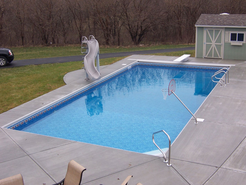 Rectangle Pool under coping track auto cover rectangle pool kits | royal swimming