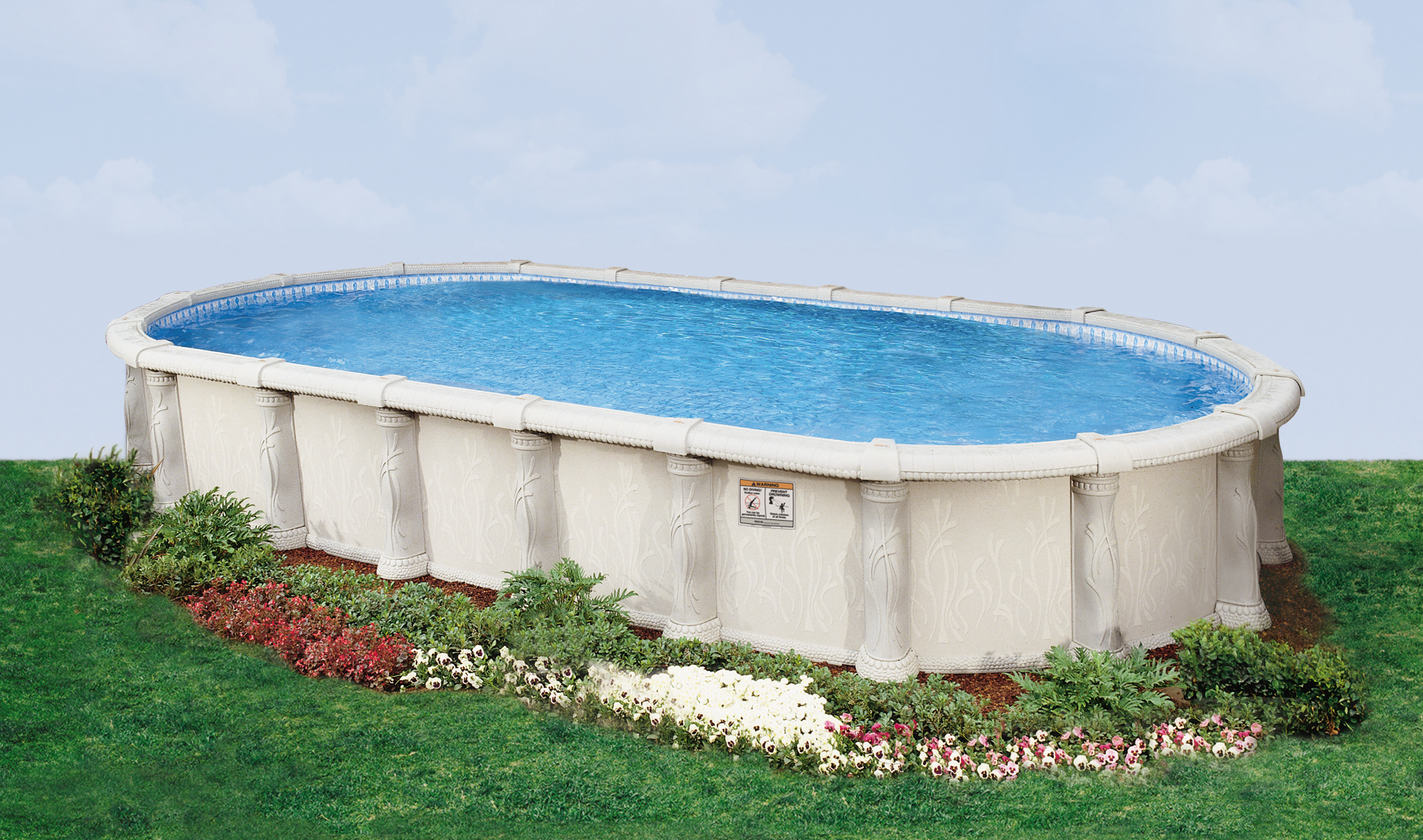16 39 X 32 39 Oval 52 Embassy Saltwater Valencia By H I I Mfg Of Doughboy Royal Swimming Pools