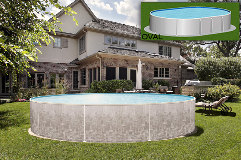 16 X 24 Oval 52 Quot Verona Above Ground Pool Royal