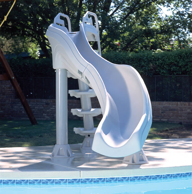 X stream gray pool slide for Swimming pool slides