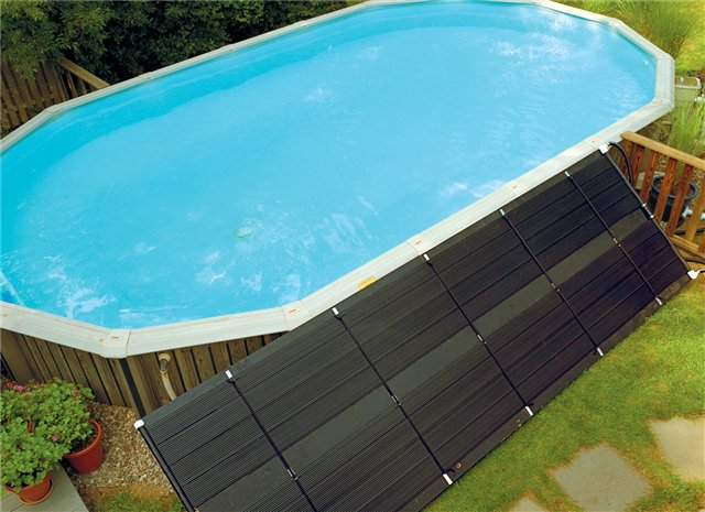 Above ground solar heating system qty 1 2 x 20 39 panels Rectangle vs round pool