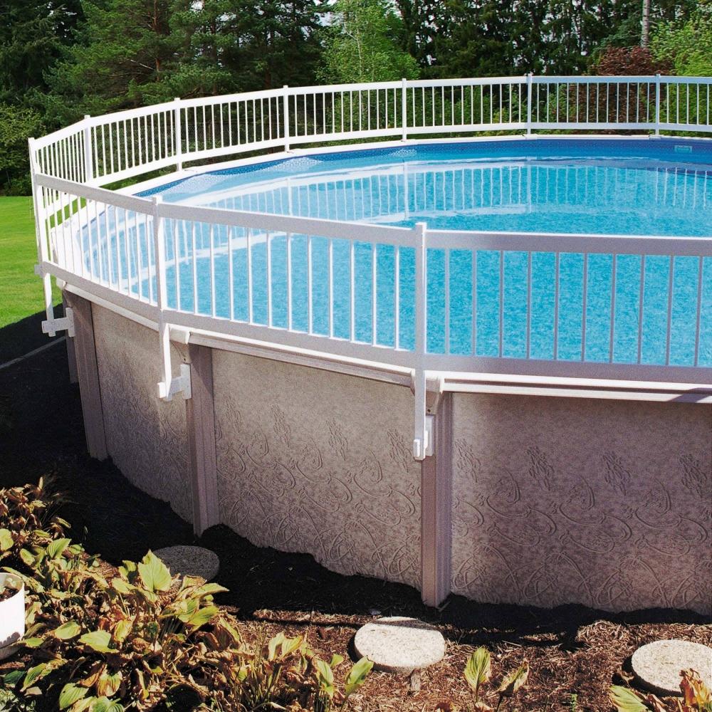 GLI Above Ground Pool Fence Base Kit (8 Section) White
