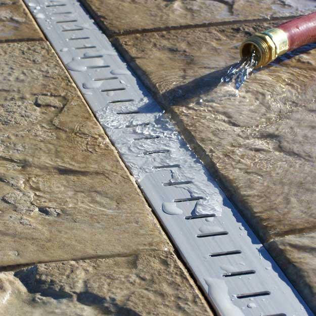 Stegmeier Deck Drain Gray - (8) 10\' Lengths | Royal Swimming Pools