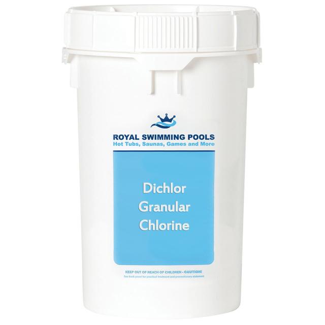 Granular Chlorine Dichlor 50lb Bucket Royal Swimming Pools