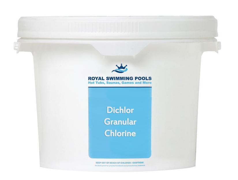 Granular Chlorine Dichlor 25lb Bucket Royal Swimming Pools
