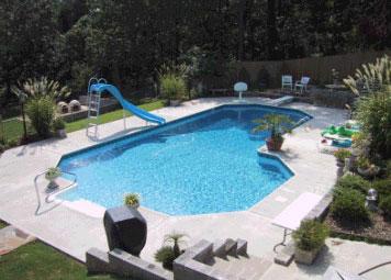 17 X 40 X 20 Grecian L Swimming Pool Kit With 42 Steel Walls Royal Swimming Pools