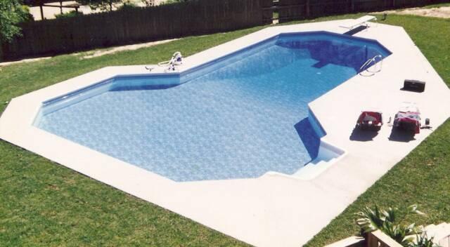 Photos of semi inground pools joy studio design gallery for Grecian pool shape