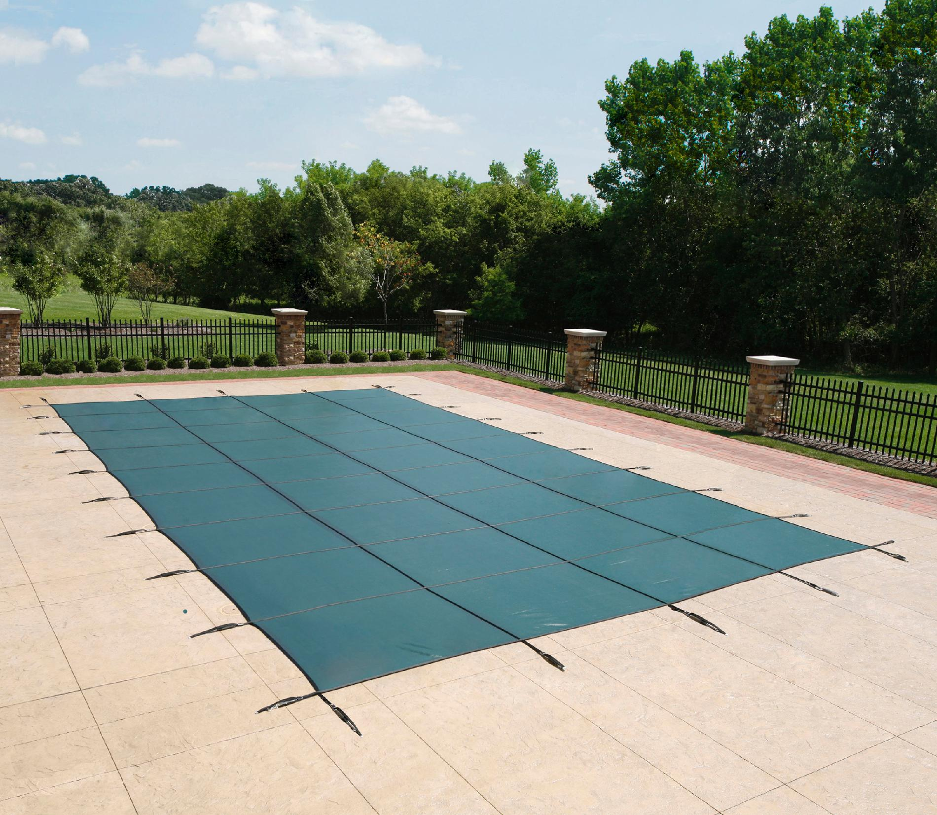 12 yr mesh safety cover for 16 39 x 36 39 rectangle pool Rectangle vs round pool