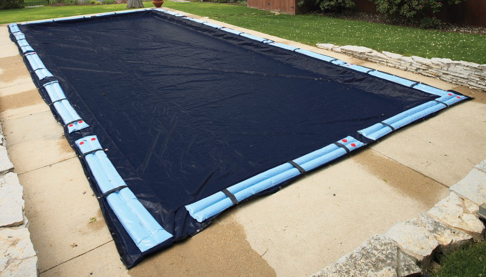 35\' x 55\' Winter Cover for 30\' x 50\' Rectangle Pool 8 Yr. Blue