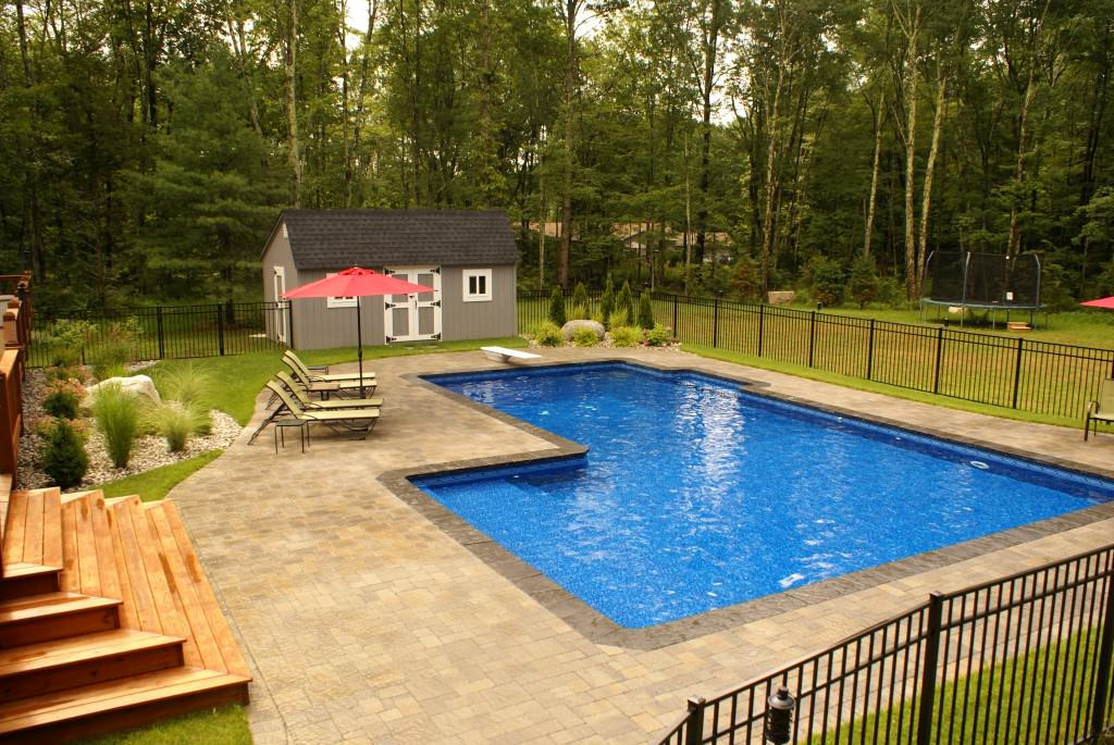 Gallery for l shaped pool dimensions for Small swimming pool sizes and shapes