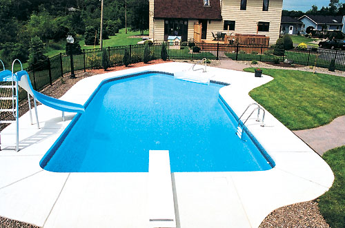 18 39 x 41 39 lazy l swimming pool kit with 42 steel walls Rectangle vs round pool