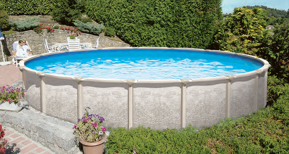 Above ground swimming pools shop diy and save royal - Largest above ground swimming pool ...