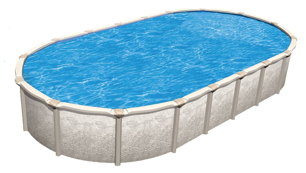 18 39 x 33 39 oval 54 saltwater magnus royal swimming pools Rectangle vs round pool