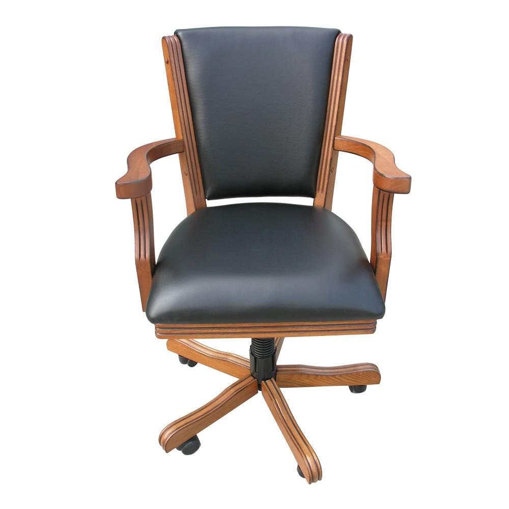 Antique Dark Oak Poker Chair   Set Of 4