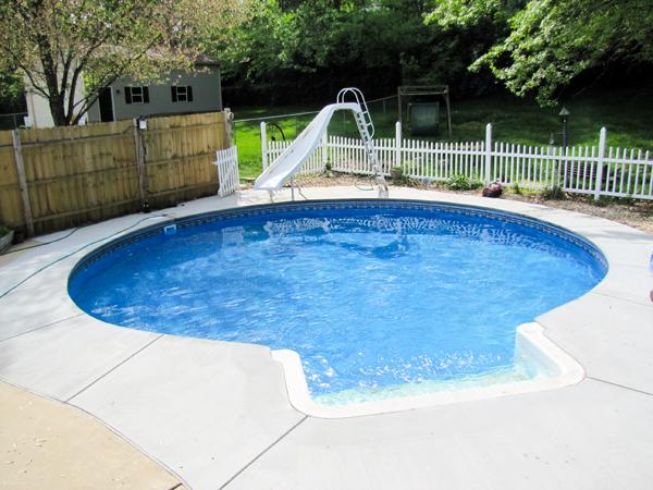 24\' Round Inground Swimming Pool Kit with 42\'\' Polymer Walls ...