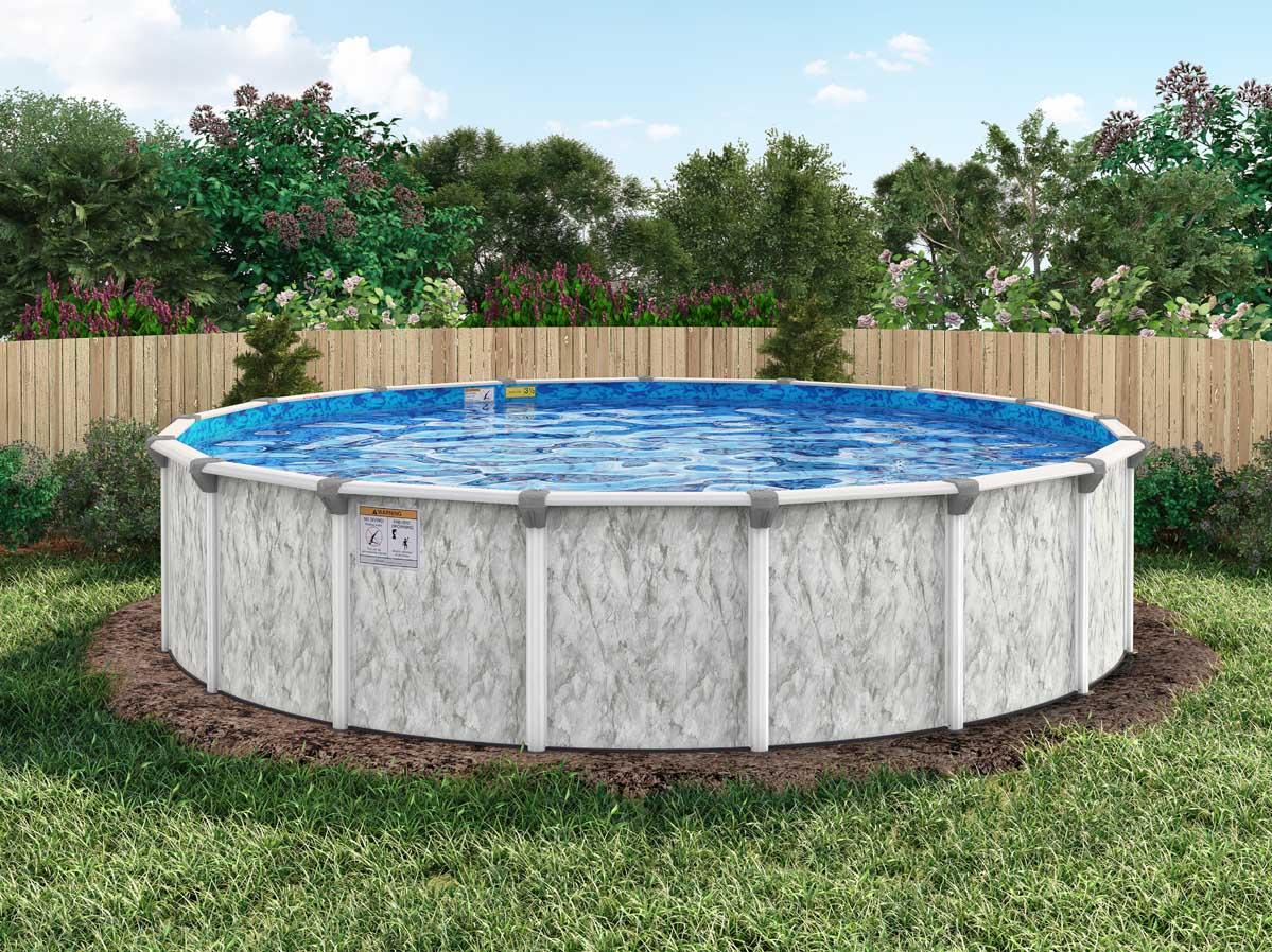 Image of: 18 Round 54 Embassy Sea Isle By H I I Mfg Of Doughboy Royal Swimming Pools
