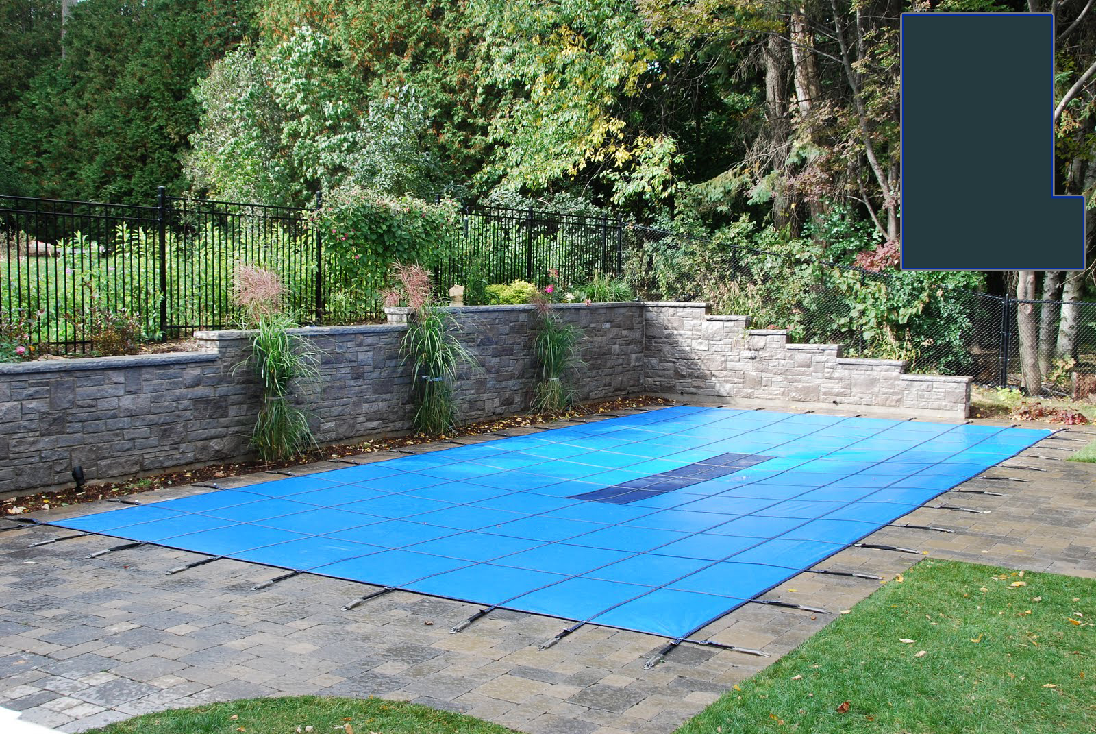 20 yr solid safety cover w pump for 12 39 x 24 39 rectangle for 16x32 pool design