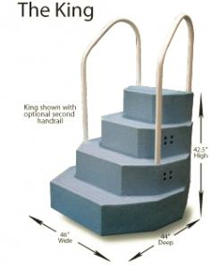 Wedding Cake Pool Steps.Above Ground Pool Ladders Steps Royal Swimming Pools