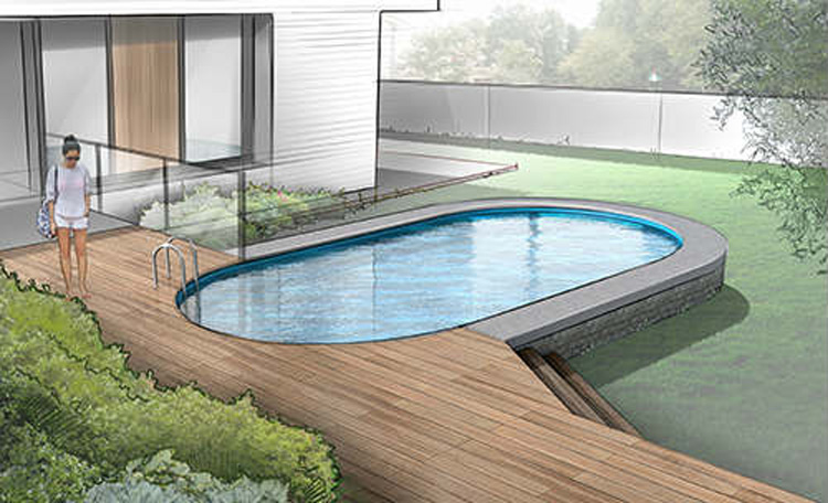 Verona Semi Inground Pools Above Ground Pool Royal Swimming Pools