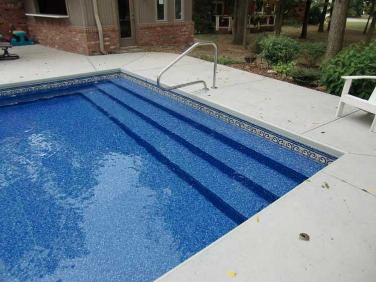 42 High X 18 Wide 6 Radius Full Width Steel Step Royal Swimming Pools