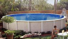 Semi inground pools royal swimming pools for Mississippi wind pool