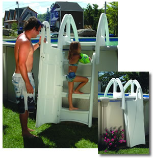 ways to keep small children safe around above ground pools