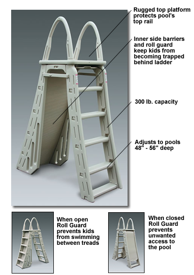 Roll Guard A Frame Safety Ladder