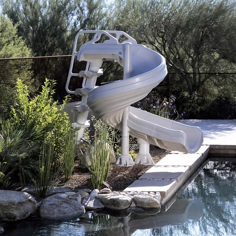 G force inground swimming pool slide for Swimming pool slides