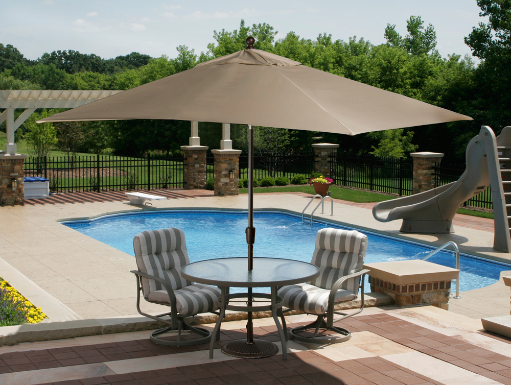 caspian market umbrella - Rectangle Patio Umbrella