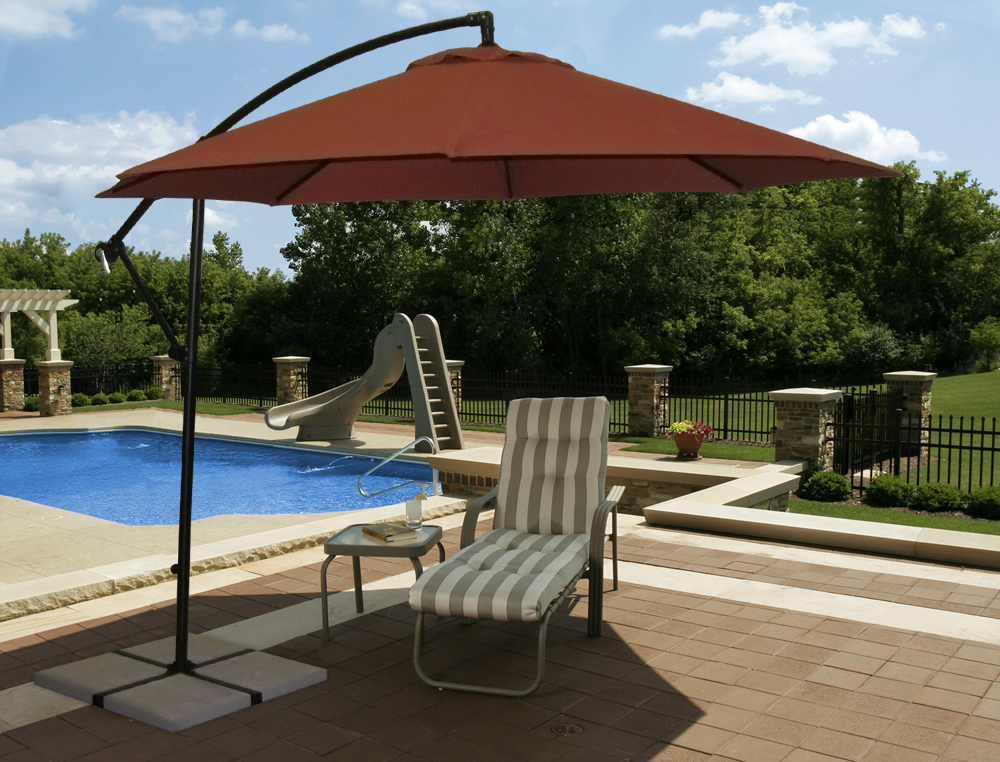 Create Your Own Shaded Backyard Oasis With This Beautiful Santiago 10 Ft  Octagon Umbrella. The Large 10u0027 Canopy Provides Excellent Shade Coverage  Without ...