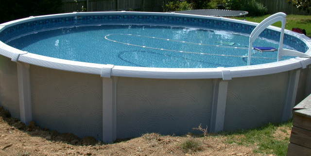 Above ground pool installation and construction information for Wedding cake swimming pool steps
