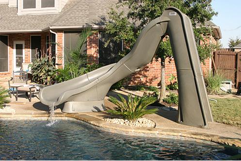 Turbo Twister Inground Swimming Pool Slide