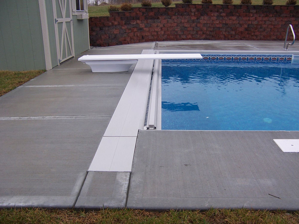 Under Coping Track Automatic Swimming Pool Safety Covers