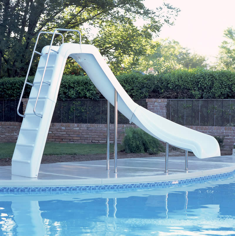 Wild ride inground pool slide for Pool design with slide