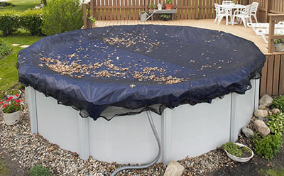 Swimming pool winter covers and accessories for Above ground pool winter cover ideas